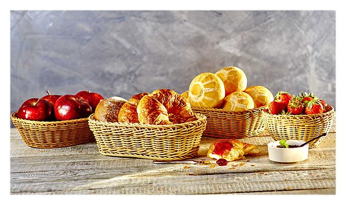Плетеные корзины для выпечки